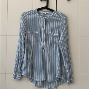 White and blue lucky brand shirt